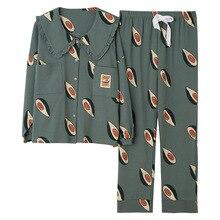 2019 Winter Pyjamas Frauen Koreanische 2 Pcs Nachtwäsche Set Pyjama Femme Langarm Baumwolle Kawaii Plus Größe Pijama Mujer Schlaf lounge