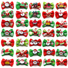 50/100pcs Christmas Dog Hair Accessories Pet Bows Holiday Party Dogs Grooming For Small Products