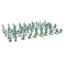 Pacote de 100 - 2cm verde exército men kit soldado figuras de ação jogar conjunto-para crianças grandes festa areia cena jogar