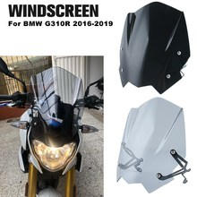 For BMW G310R 2016-2019 Windscreen Windshield Shield Screen With Mounting Bracket Wind Deflector Motorcycle Accessories for bmw g310r 2017 on motorcycle windshield windscreen with mounting bracket high quality abs plastic