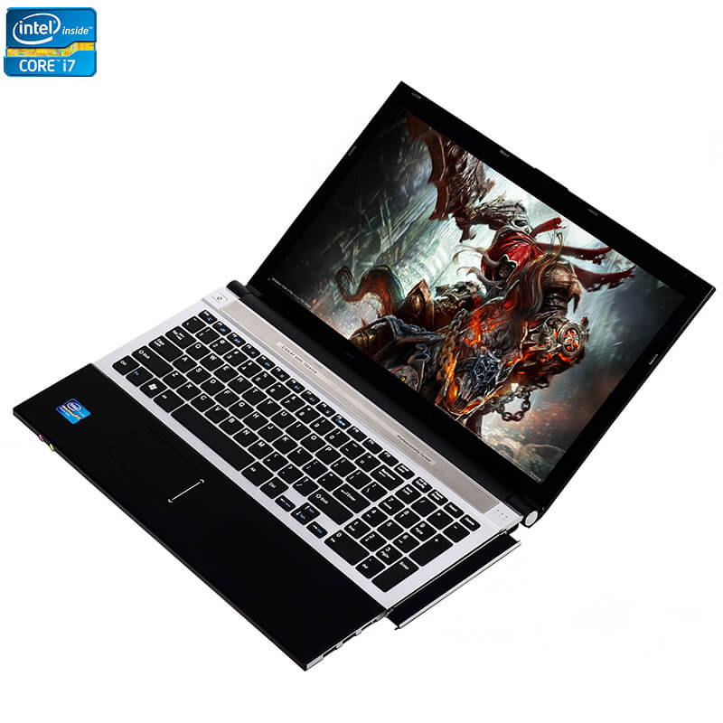 Amoudo 15.6inch Intel Core I7 8GB RAM 256GB SSD 1TB HDD DVD RW Camera WIFI Bluetooth Notebook Computer Windows 10 Laptop PC