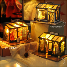 Toys Doll-House Building-Model Wooden DIY 222 Ornament Birthday-Gift Shop-Series Handmade