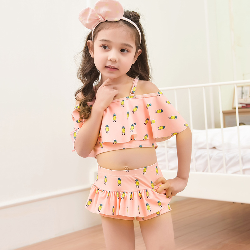 2019 New Style Foreign Trade Children Flounced Skirt-Split Type Big Boy GIRL'S Swimsuit Factory Supply Of Goods Wholesale