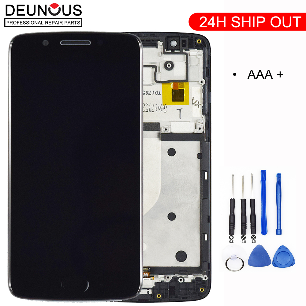 Original LCD For Motorola Moto G5 LCD Display Touch Screen With Frame Replacement Screen For Moto G5 Display XT1672 XT1676