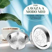 ICafilas-filtro de cápsula de café reutilizable de acero inoxidable para Lavaza, para modo mio, Jolie/Tiny & LM3100