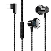 Casque de jeu écouteurs type c filaire contrôle musique stéréo casque Sport écouteurs avec Microphone pour Xiaomi Huawei Samsung sh *