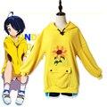 Ohto Ai костюм Чудо-яйцо приоритет Косплэй Ohto Ai Толстовка шорты желтый пуловер Толстовка аниме пальто для Хэллоуина