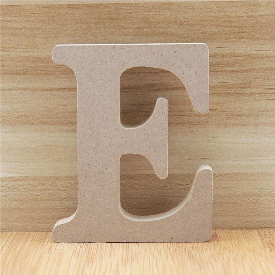 1pc 10cm Wooden Letters Alphabet Name Letter Standing DIY Word Party Wedding Home Decor Design Art Crafts Wood Color 3.94 Inches