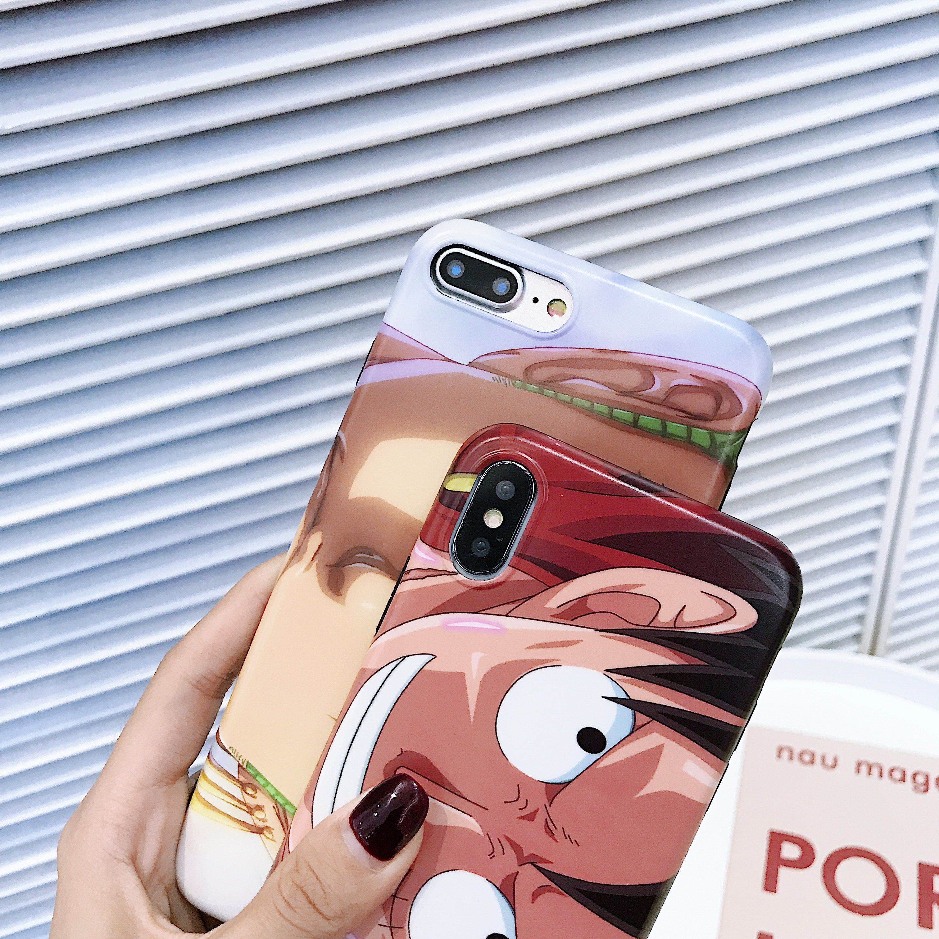 Cartoon ONE Piece Luffy Zoro Cute Phone Case Soft Cover For iPhone 6 6s 7 8 Plus X XS XR XSMax in Half wrapped Cases from Cellphones Telecommunications