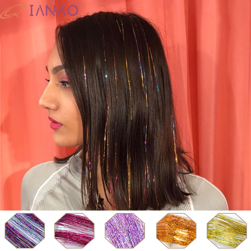 Fashion Braiding Hair Gold Thread Rayon DIY Hair Accessories For Child / Women QIANAO