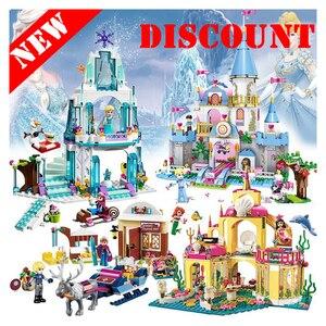 Nouvelle série Compatible avec les amis princesse ensemble modèle blocs de construction briques jouets meilleur cadeau de noël pour les enfants(China)