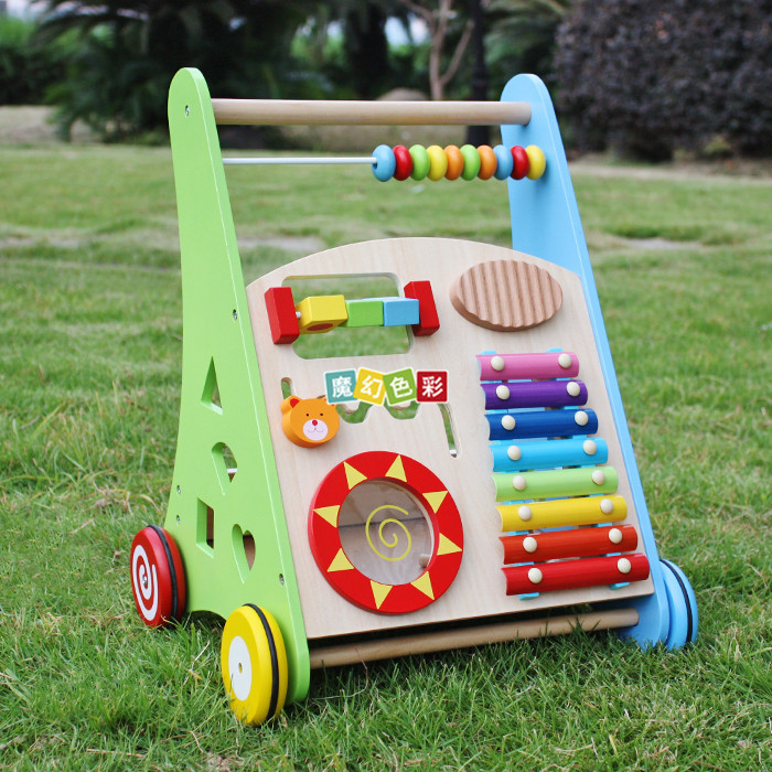 Wholesale Wooden Baby Walker Early Education Multi-function Toys