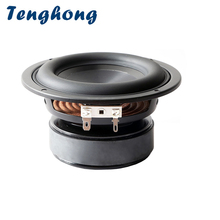 Tenghong 1pcs 4 Inch Subwoofer Speaker 4/8 Ohm 40W Bass Audio Speaker Unit HIFI Bookshelf Loudspeaker For Home Theater DIY