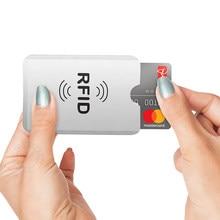 10 pçs/lote anti roubo banco cartão de crédito protetor nfc rfid bloqueio titular do cartão capa carteira folha de alumínio id caso cartão de visita