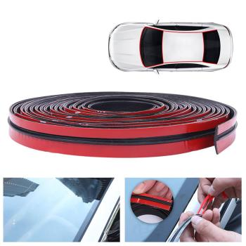 SALE 2-6Meters Rubber Car Door Seal Auto Roof Windshield Sealant Protector car Seal Strip Sound Insulation Window Seals For Auto image