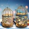 מתכת קלאסי פמוט מרוקאי סגנון פנס נר Stand אור בעל תלוי נרות מחזיק למעלה רטרו בית תפאורה
