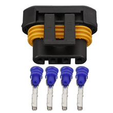 4 Pin car oxygen sensor plug black harness connector plug with terminal DJ7045Y-1.5-21 4P 4 pin auto male plug car oxygen sensor plug connector for beverly chery citroen etc white color