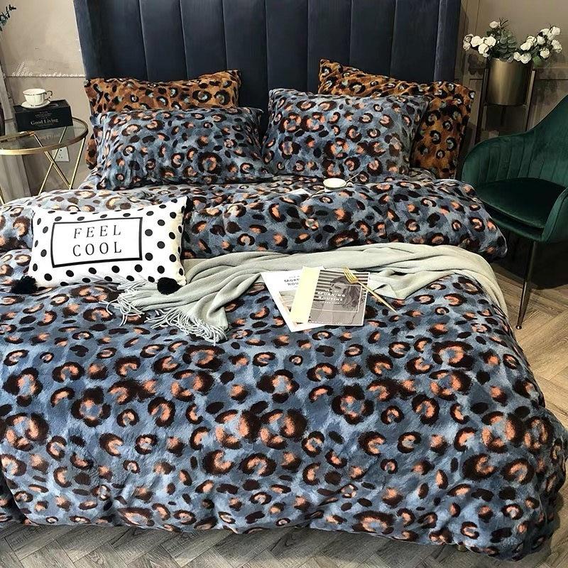 Высококачественный французский итальянский дизайн рококо Король Королева Размер кофе золотой цвет Зебра Леопард печать свадебные комплекты постельного белья - 3