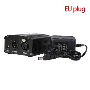 Image 1 - 48 48v ファンタム電源アダプタコンデンサーマイクサウンドカードのプラグ EU プラグ