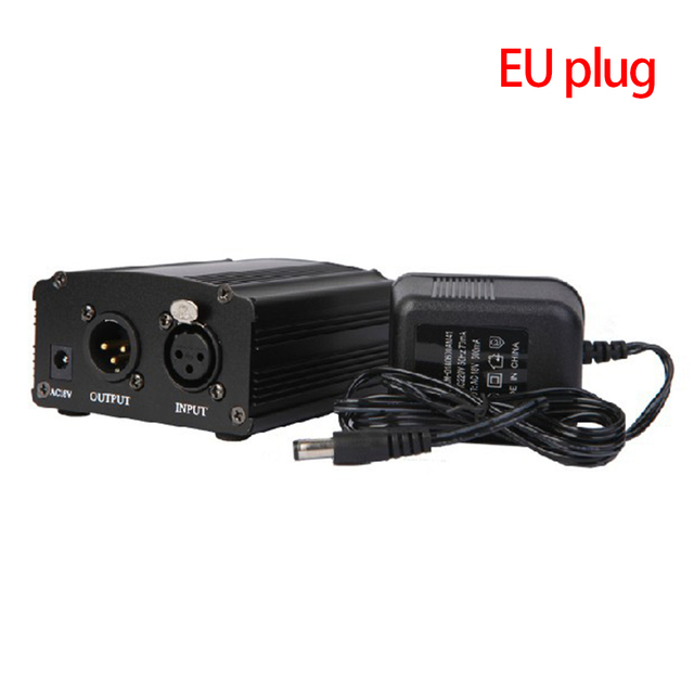 48 48v ファンタム電源アダプタコンデンサーマイクサウンドカードのプラグ EU プラグ