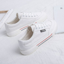 SWYIVY White Shoes Woman Platform Sneakers Canvas Shoes 2020 Spring New Female Causal Shoes Black Sneakers On Platform Heel