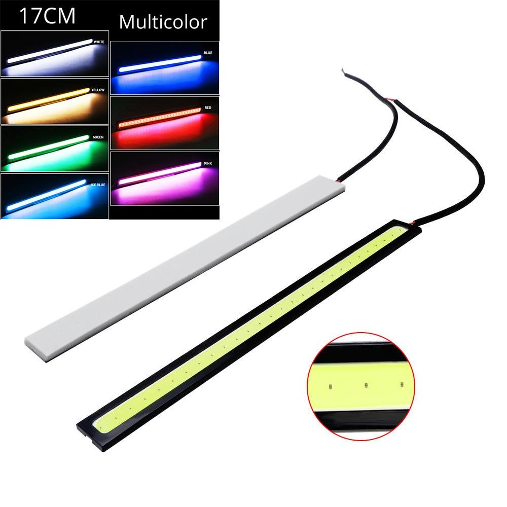 1Pcs Car Styling Ultra Bright LED Daytime Running Lights DC 12V 17cm 100% Waterproof Auto Car DRL COB Driving Fog Lamp