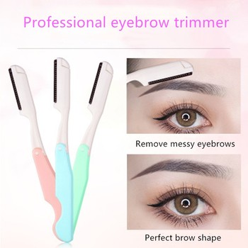 Eyebrow Razor Trimmer Knife Women Makeup Facial Tool Eyebrow Lip Blade Shaver Knife Beauty Tool Eyeb
