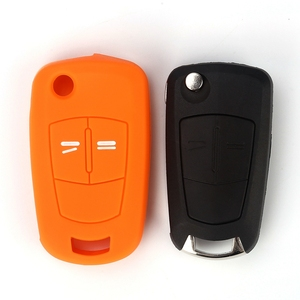 Image 5 - Hot silicone car key cover case shell fob for Vauxhall Opel Corsa Astra Vectra Signum 2 Buttons  remote key shell