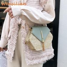 Women's Straw Bag Shoulder Messenger Bags Fashion Crossbody Bohemia Handbag Woven Beach Handmade Sling For Women Bolso Hombre
