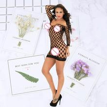 Cosplay Sexy Women hollow grid Costume Underwear Sex Lingerie Roleplay Erotic short Skirt
