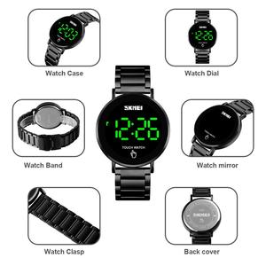 Image 4 - SKMEI Brand Mens Watches Luxury Sport Digital Watch Stainless Steel Men Wristwatch LED Light Display Electronic Watch Bracelet