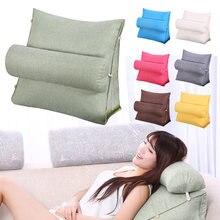 Moda cama sofá almofada triangular encosto travesseiro cama encosto cadeira de escritório travesseiro apoio cintura almofada decoração do agregado familiar
