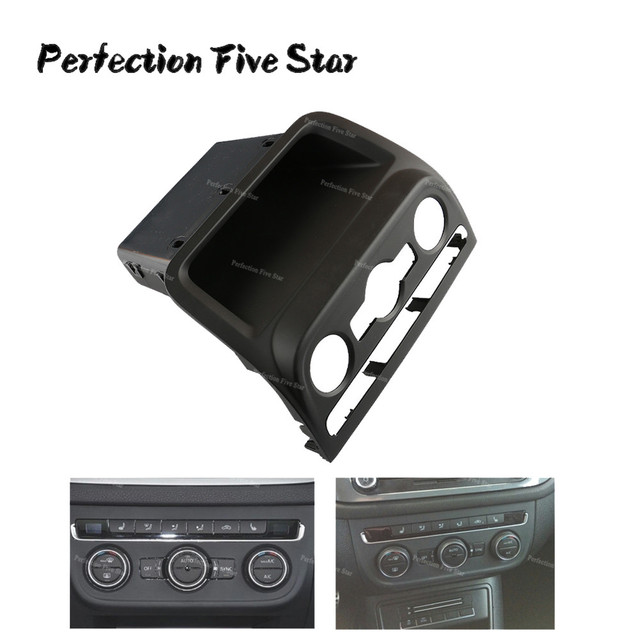 Black Front Dashboard Seat Climate Control Panel Lower Stowage Box For Volkswagen VW Tiguan 2010 2014 2015 5M0819422B 5ND820039