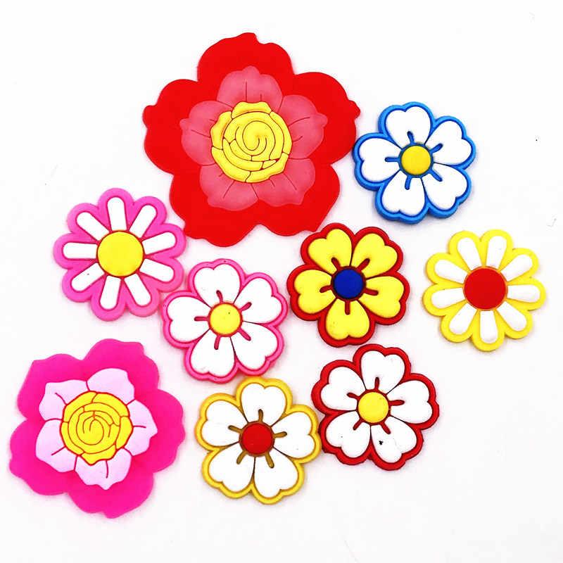 1 sztuk roślin piękny kwiat symulowane wzór Flatback silikonowe pcv dla DIY do włosów akcesoria Making torebka zdobienie broszka