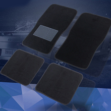 Universal 4Pcs Car Floor Mats Waterproof Black Auto Floor Foot Mat Fit For Most Cars