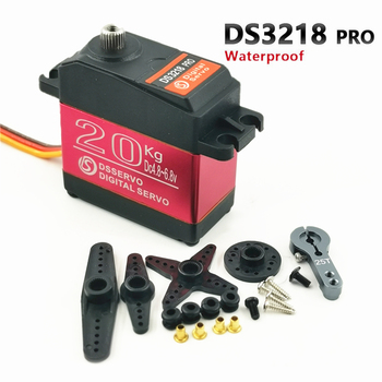 Waterproof RC Servo DS3218 Update and PRO High Speed Metal Gear Digital Servo Baja Servo 20KG/.09S for 1/8 1/10 Scale RC Cars