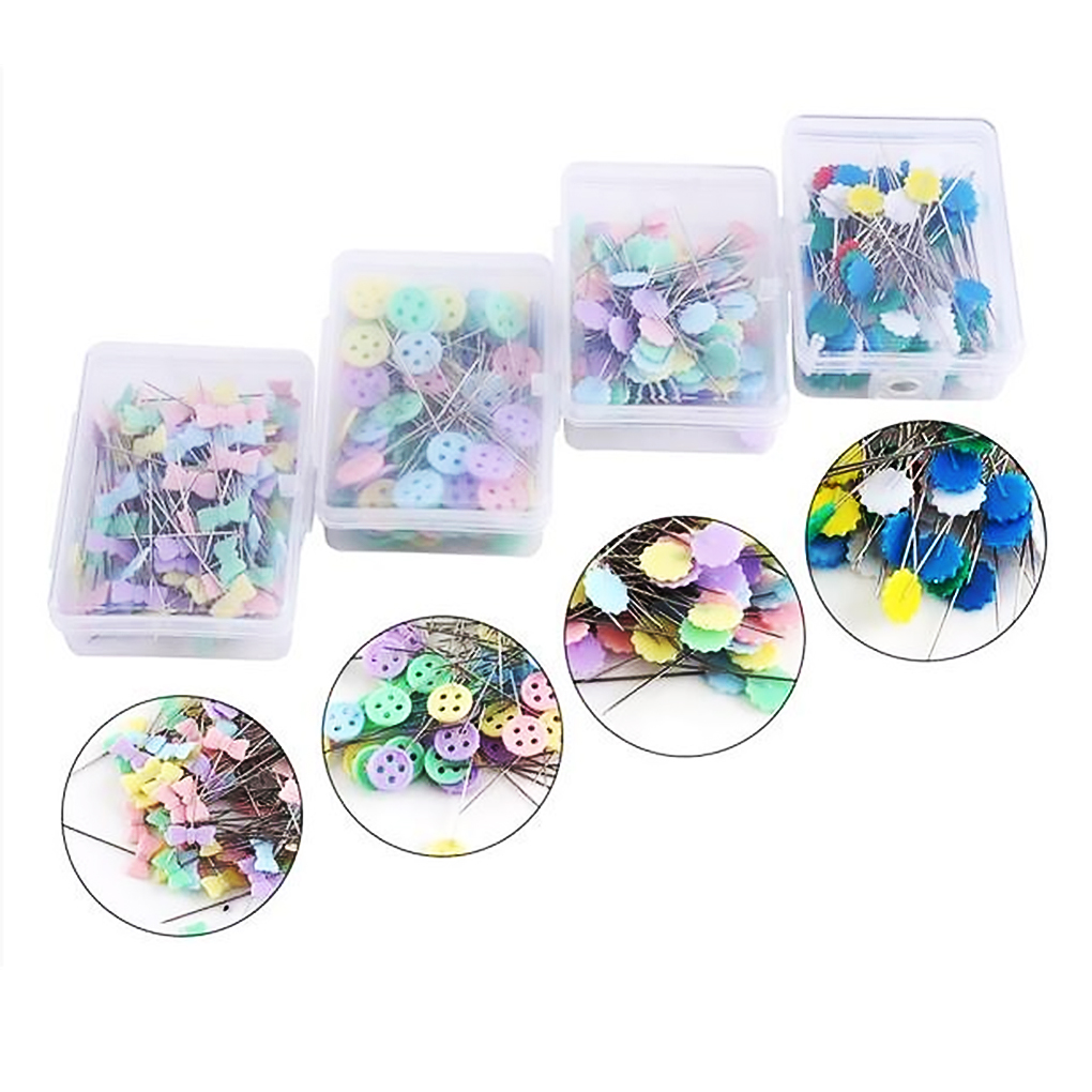 100/250Pcs Stainless Steel Dressmaking Pins Embroidery Patchwork Pins Accessories Tools Sewing Marker Needle DIY Sewing Tool-0