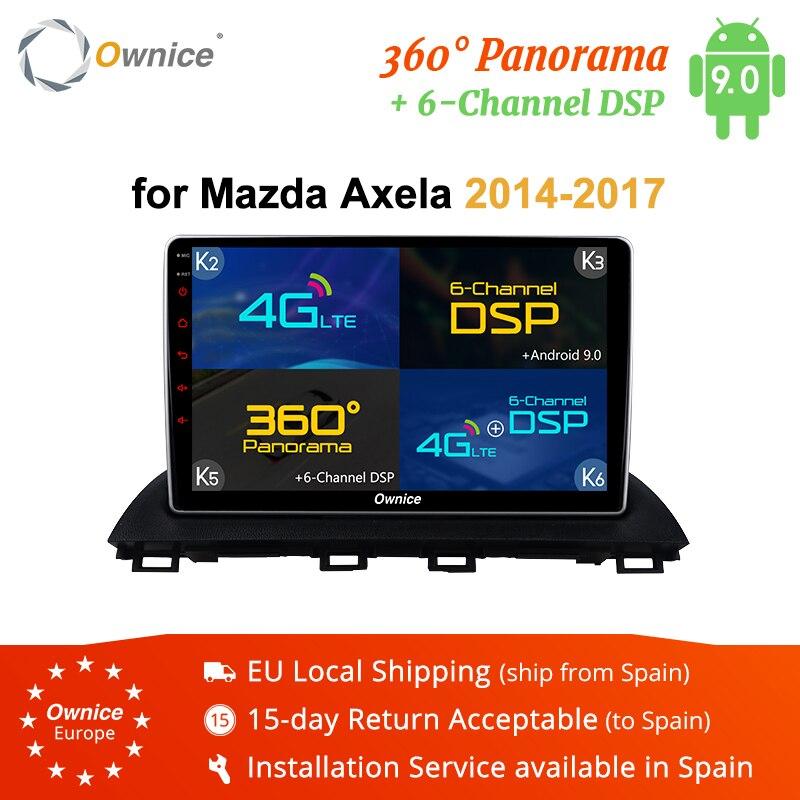Ownice K3 K5 K6 4G LTE DSP 360 Panorama Android 9.0 Octa Core Autoradio DVD player GPS Navi per Mazda3 Axela 2014 2015 2016 2017