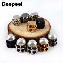 20 штук deepeel металлические жемчужные Двойной Фиксатор с отверстием