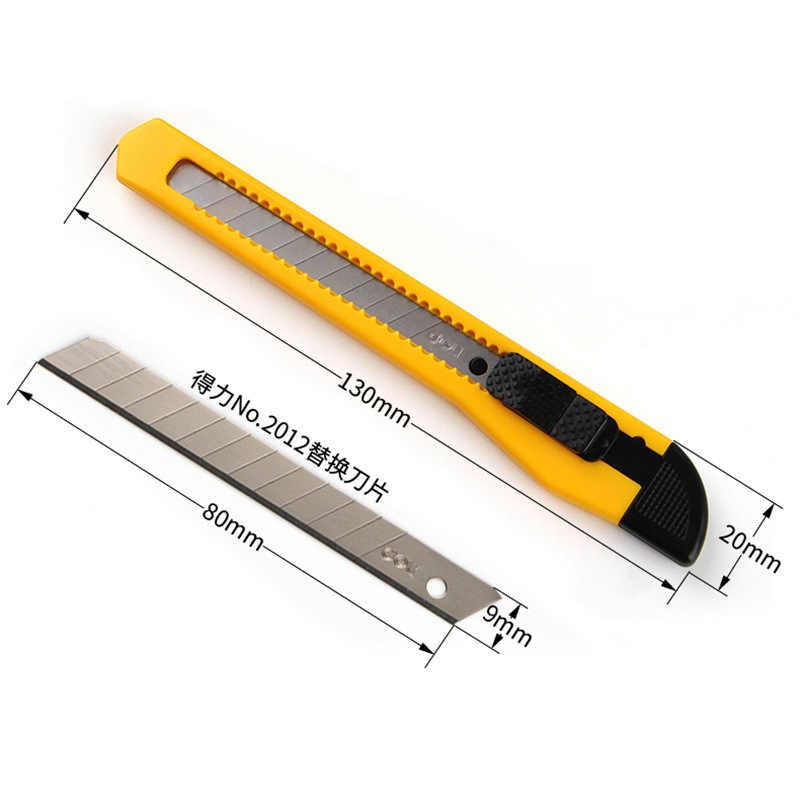 Deli-cuchillo de aleación de acero de alta calidad, 3 uds./5 uds., cuchillo duradero de talla, cortador de caja, papel tapiz, suministros de aprendizaje, papelería