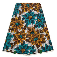 100% Cotton African Wax Print Fabric New Arrival High Quality Beautiful 6yards For Dress