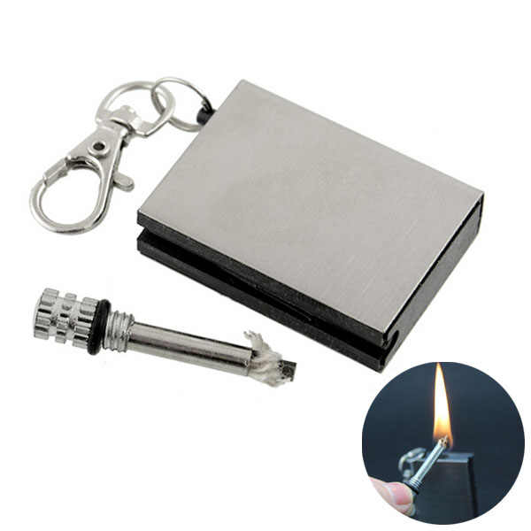 Fire starter tool flint stone Metal match outdoor lighter gas Cigar firesteel camp hike Cigarette travel oil magnesium survive