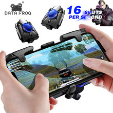 Data Kikker Mobiele Telefoon Gaming Trigger Voor Pubg Gamepad Game Turbo Fire Knop 16 Shots Per Tweede L1R1 Shooter Pubg controller(China)