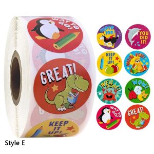 2020 New 500pcs/roll Cartoon Animal Reward Stickers Diary Scrapbooking Teacher Incentive