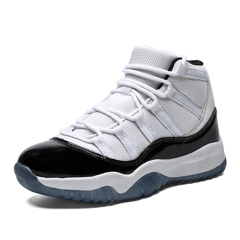 JINBEILE Women Basketball Shoes Mens Jordan Retro 11 Air Sneakers Black Red White Men Jordan Shoes Demon Sports Shoes Unisex