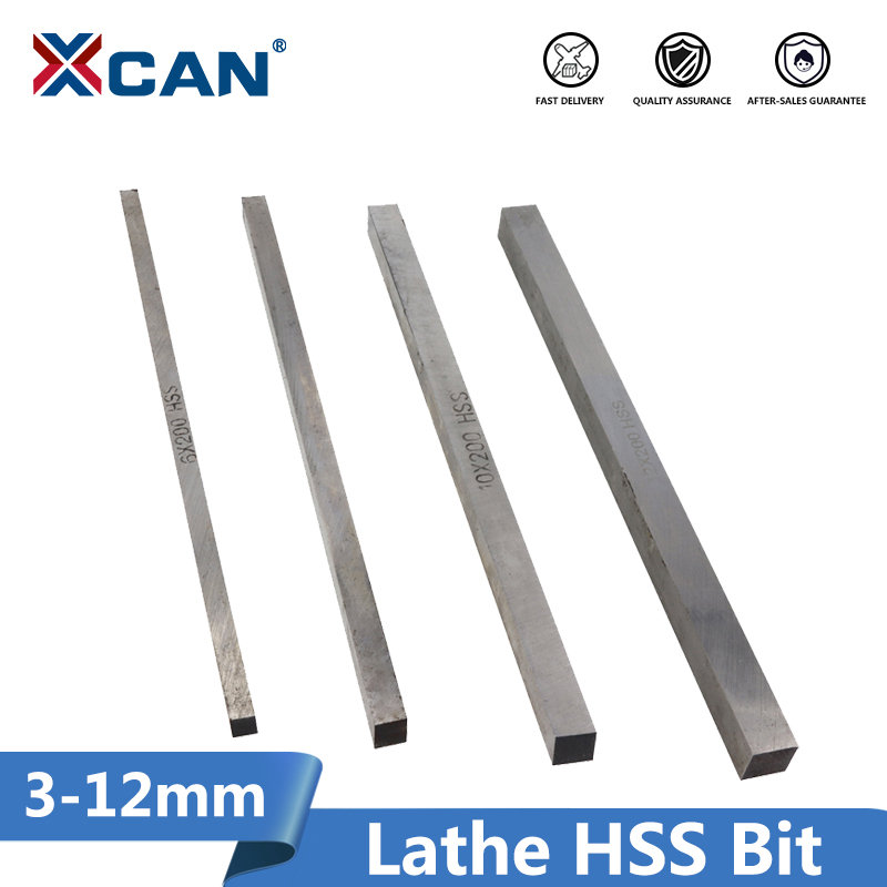 XCAN 1pc 3/4/5/6/8/10/12mm 200mm Long CNC Lathe HSS Bit CNC Turning Milling Tools