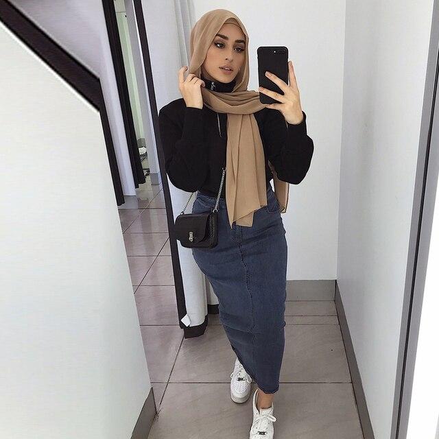 Muslim Women Long Skirt Dress Turkis 1