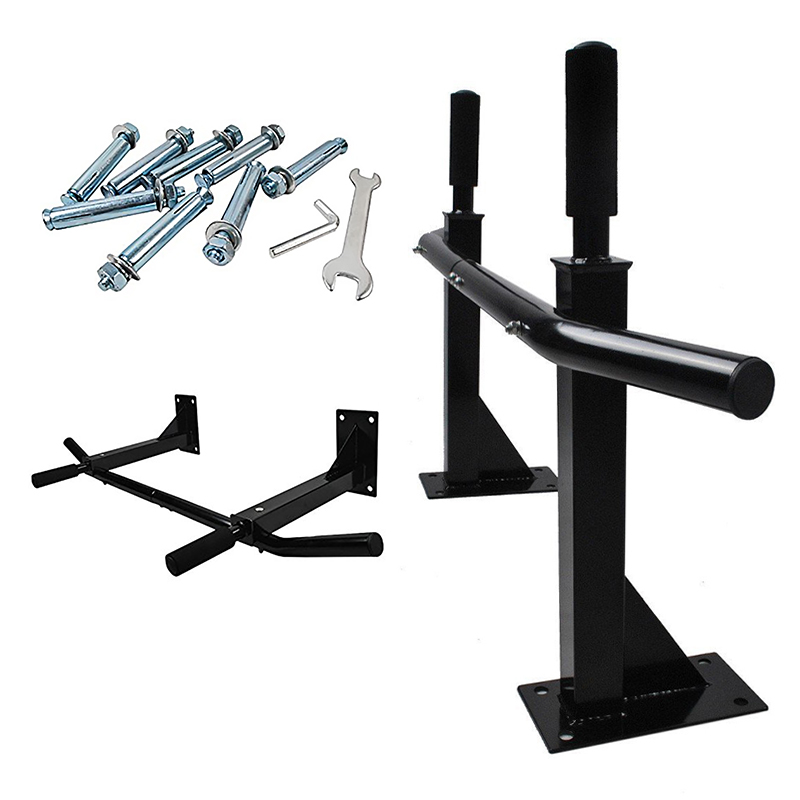 In Stock Fitness Horizontal Bars Wall Mounted Pull Up Bars Strength Fitness Bar Chin Up Workout Exercise Sports Equipments HWC