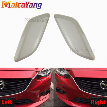 Car Pair Left Right Front Headlight Washer Spray Nozzle Cover GV7D518G1 GV7D518H1 For Mazda 6 M6 2008-2012 Decoration Cap image