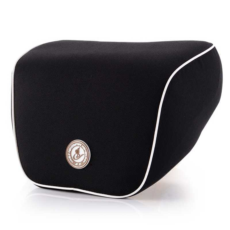 Car Pillow Headrest Neck Pillow Memory Cotton Black Fit Body Spine Curve Orthopedic Cushion Seat polyester
